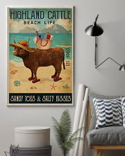 Beach Life Sandy Toes Highland Cattle 11x17 Poster lifestyle-poster-1