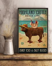 Beach Life Sandy Toes Highland Cattle 11x17 Poster lifestyle-poster-3