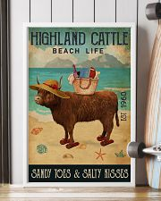 Beach Life Sandy Toes Highland Cattle 11x17 Poster lifestyle-poster-4