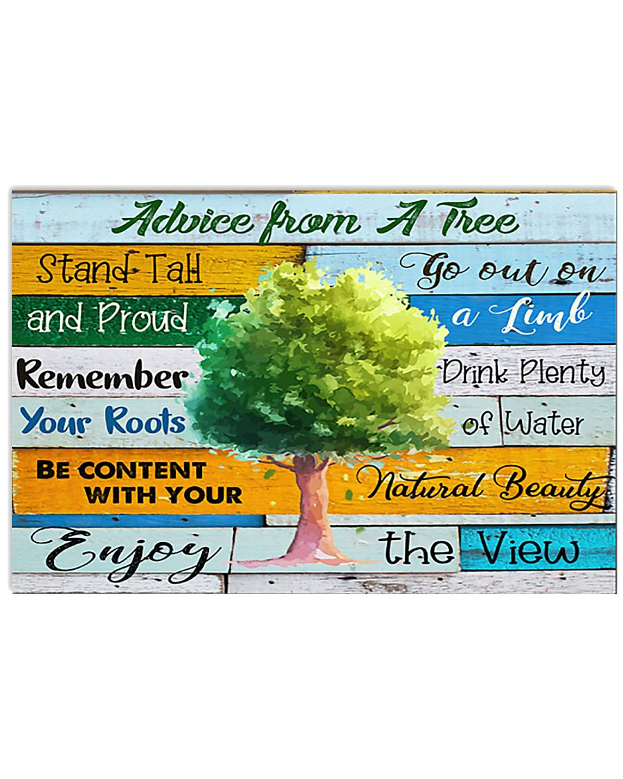 Teacher  Advice From A Tree 17x11 Poster