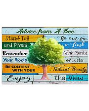 Teacher  Advice From A Tree 17x11 Poster front