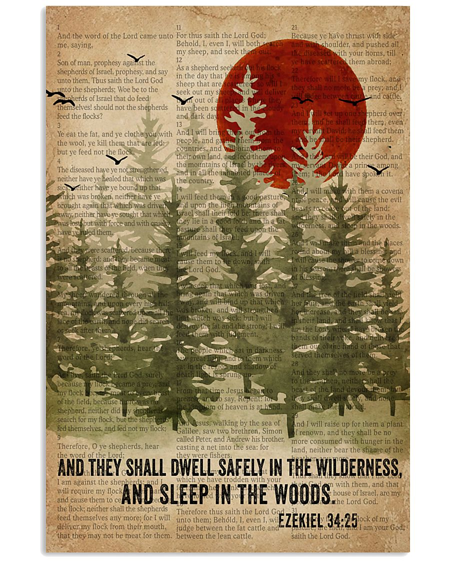 Sleep In The Woods Bible Camping 16x24 Poster