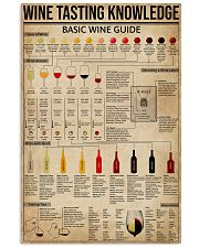 Wine Tasting Basic Guide Knowledge 11x17 Poster front