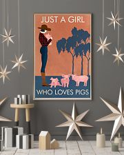 Vintage Girl Who Loves Pig 11x17 Poster lifestyle-holiday-poster-1