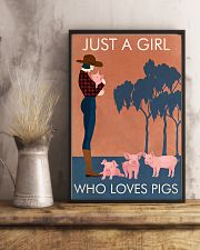 Vintage Girl Who Loves Pig 11x17 Poster lifestyle-poster-3