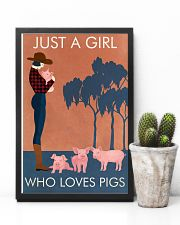 Vintage Girl Who Loves Pig 11x17 Poster lifestyle-poster-8
