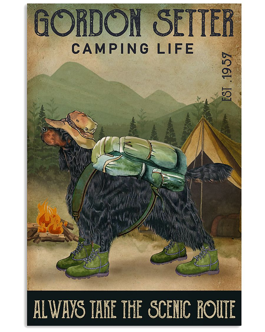 Camping Life Scenic Route Gordon Setter 11x17 Poster