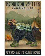 Camping Life Scenic Route Gordon Setter 11x17 Poster front