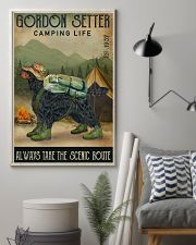 Camping Life Scenic Route Gordon Setter 11x17 Poster lifestyle-poster-1