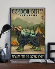 Camping Life Scenic Route Gordon Setter 11x17 Poster lifestyle-poster-2
