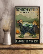 Camping Life Scenic Route Gordon Setter 11x17 Poster lifestyle-poster-3