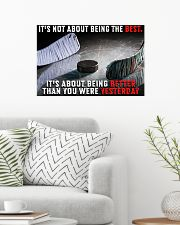 It's Not About Being The Best Hockey 24x16 Poster poster-landscape-24x16-lifestyle-01