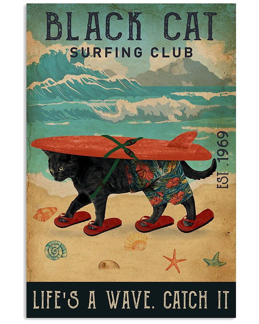 Surfing Club Black Cat 11x17 Poster