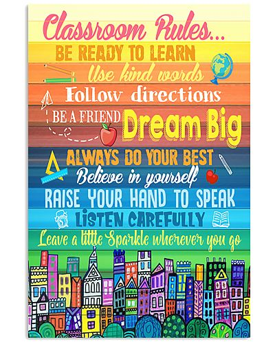 Teacher Classroom Rules Colorful