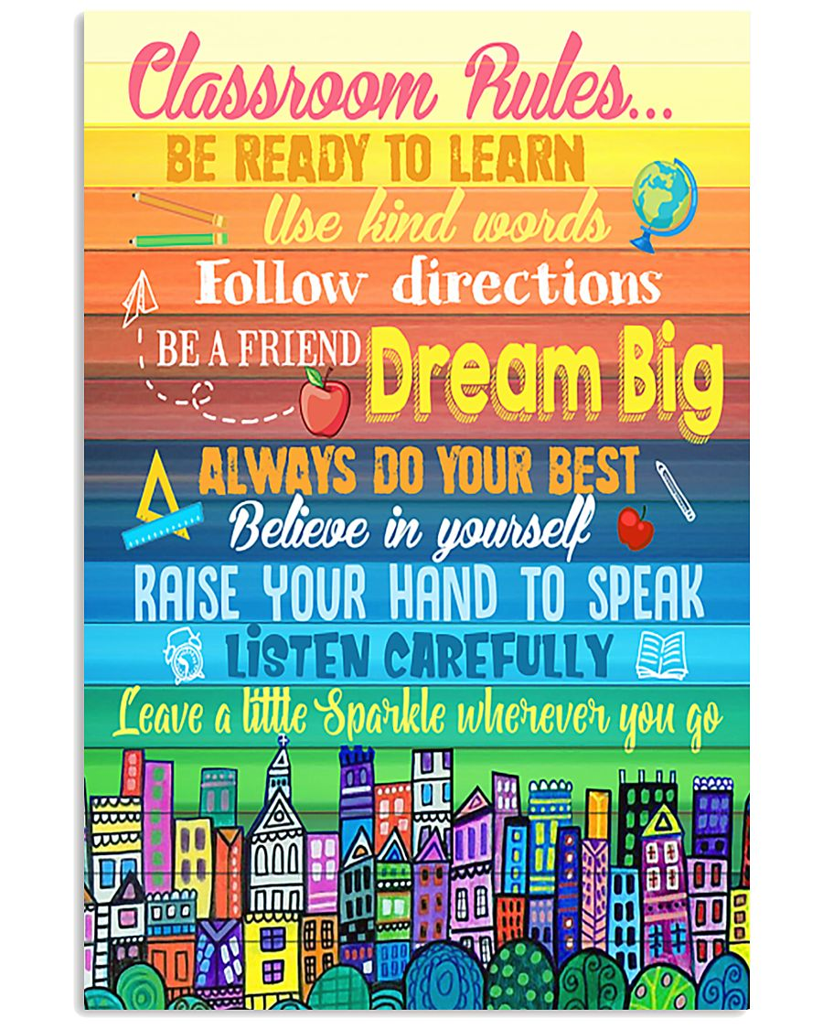 Teacher Classroom Rules Colorful 11x17 Poster
