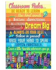 Teacher Classroom Rules Colorful 11x17 Poster front