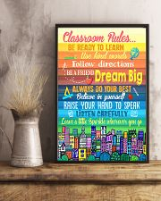 Teacher Classroom Rules Colorful 11x17 Poster lifestyle-poster-3