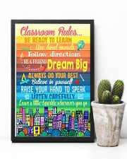 Teacher Classroom Rules Colorful 11x17 Poster lifestyle-poster-8