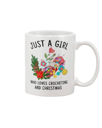 Just A Girl Who Loves Crocheting And Christmas