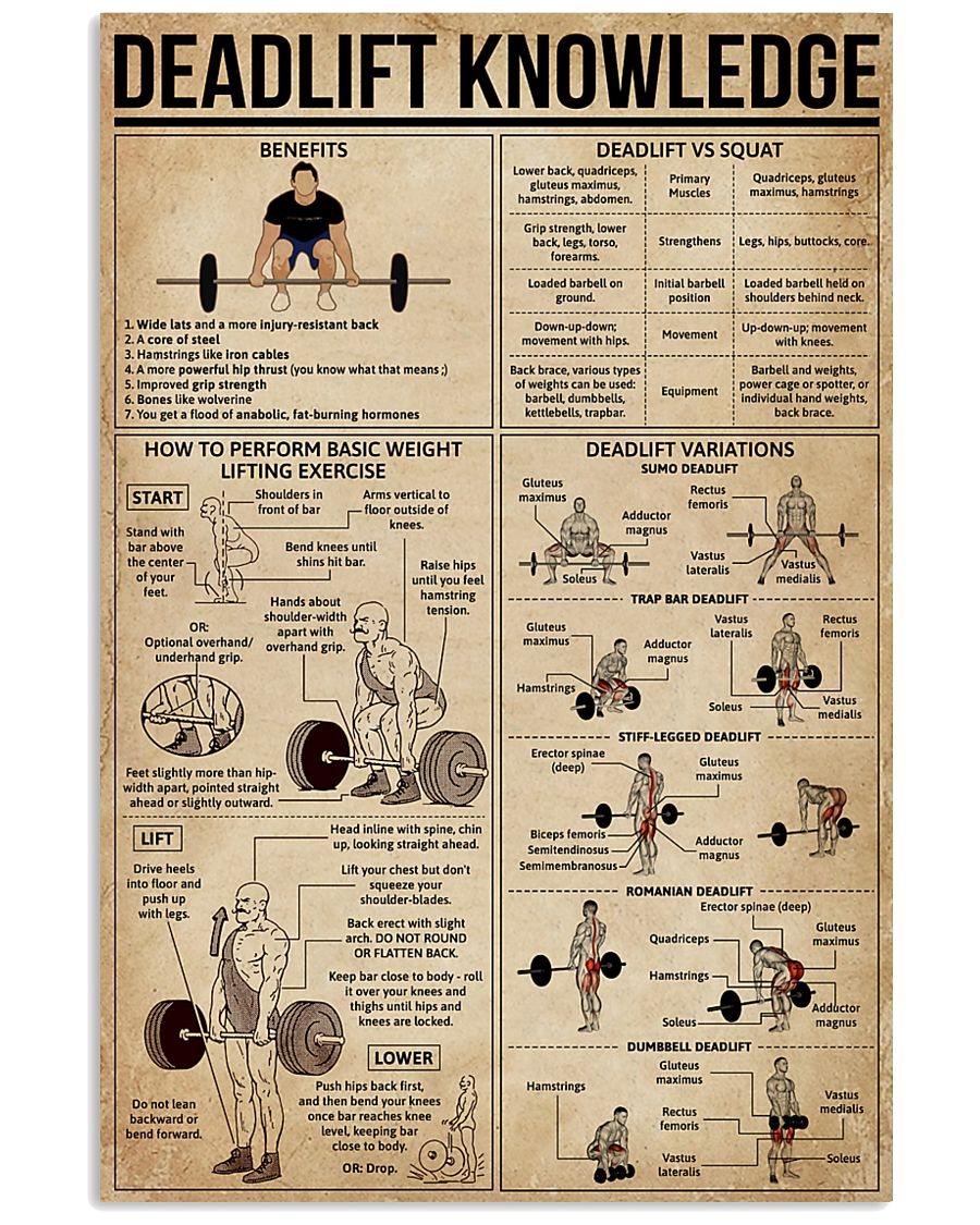 Deadlift Knowledge 16x24 Poster