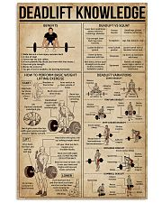 Deadlift Knowledge 16x24 Poster front