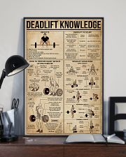 Deadlift Knowledge 16x24 Poster lifestyle-poster-2