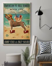 Beach Life Sandy Toes American Pit Bull Terrier 11x17 Poster lifestyle-poster-1