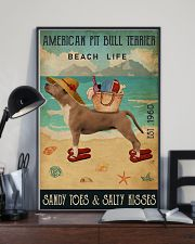 Beach Life Sandy Toes American Pit Bull Terrier 11x17 Poster lifestyle-poster-2