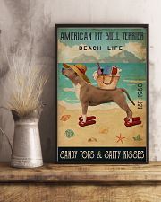 Beach Life Sandy Toes American Pit Bull Terrier 11x17 Poster lifestyle-poster-3