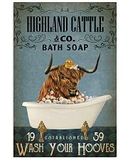 Vintage Bath Soap Highland Cattle 11x17 Poster front