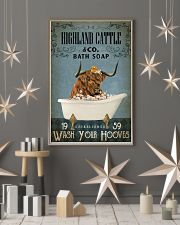 Vintage Bath Soap Highland Cattle 11x17 Poster lifestyle-holiday-poster-1