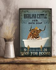 Vintage Bath Soap Highland Cattle 11x17 Poster lifestyle-poster-3