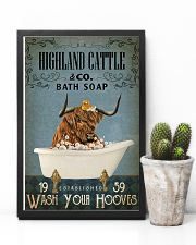 Vintage Bath Soap Highland Cattle 11x17 Poster lifestyle-poster-8