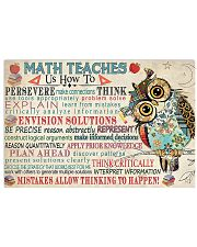 Math Teaches Us  17x11 Poster front
