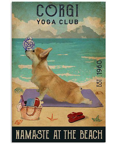 Beach Yoga Club Corgi