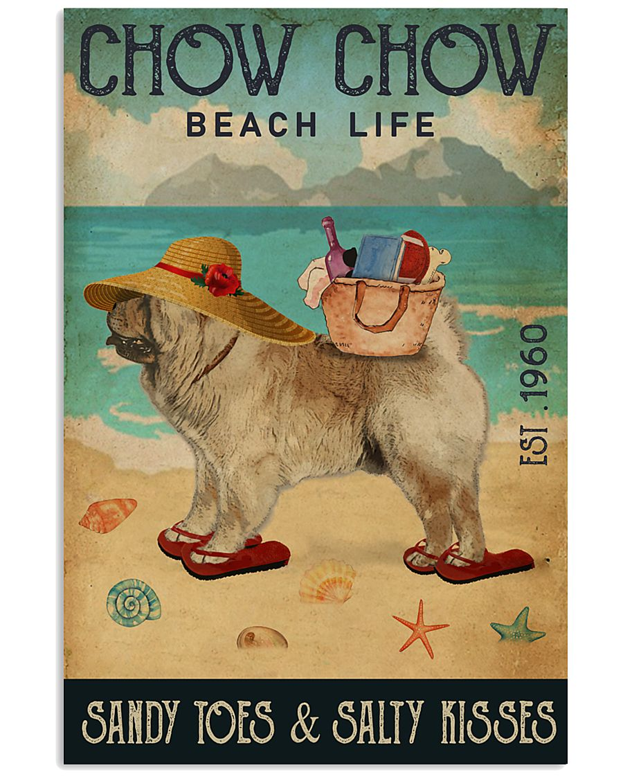 Beach Life Sandy Toes Chow Chow 11x17 Poster