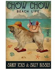 Beach Life Sandy Toes Chow Chow 11x17 Poster front