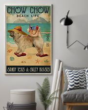 Beach Life Sandy Toes Chow Chow 11x17 Poster lifestyle-poster-1