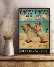 Beach Life Sandy Toes Chow Chow 11x17 Poster lifestyle-poster-3