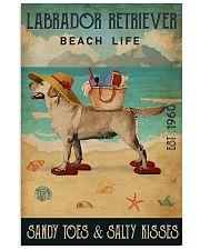 Beach Life Sandy Toes Labrador Retriever 11x17 Poster front