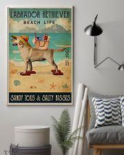 Beach Life Sandy Toes Labrador Retriever 11x17 Poster lifestyle-poster-1