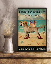 Beach Life Sandy Toes Labrador Retriever 11x17 Poster lifestyle-poster-3