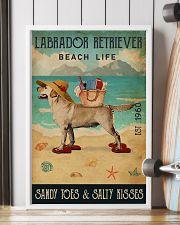Beach Life Sandy Toes Labrador Retriever 11x17 Poster lifestyle-poster-4