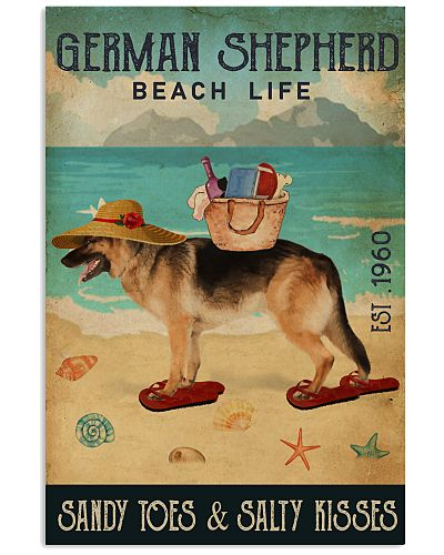 Beach Life Sandy Toes German Shepherd