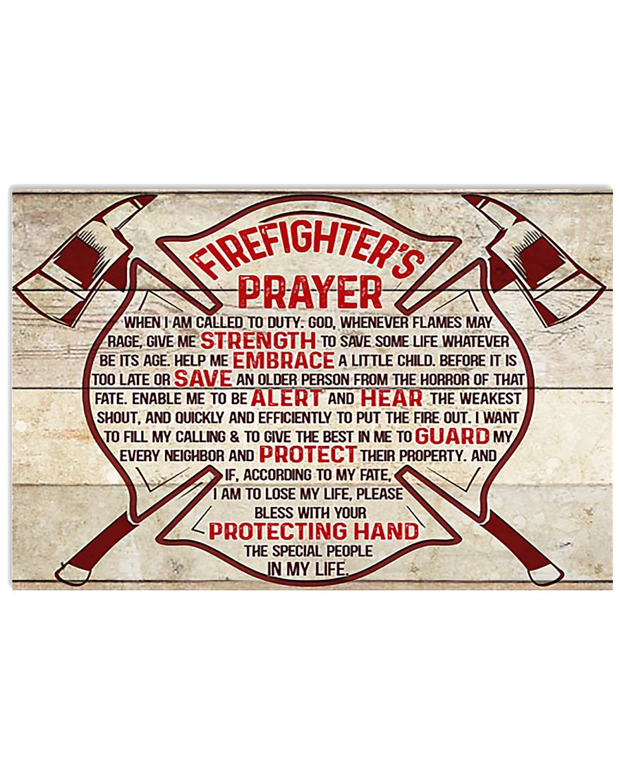 Firefighter Firefighter's Prayer 17x11 Poster