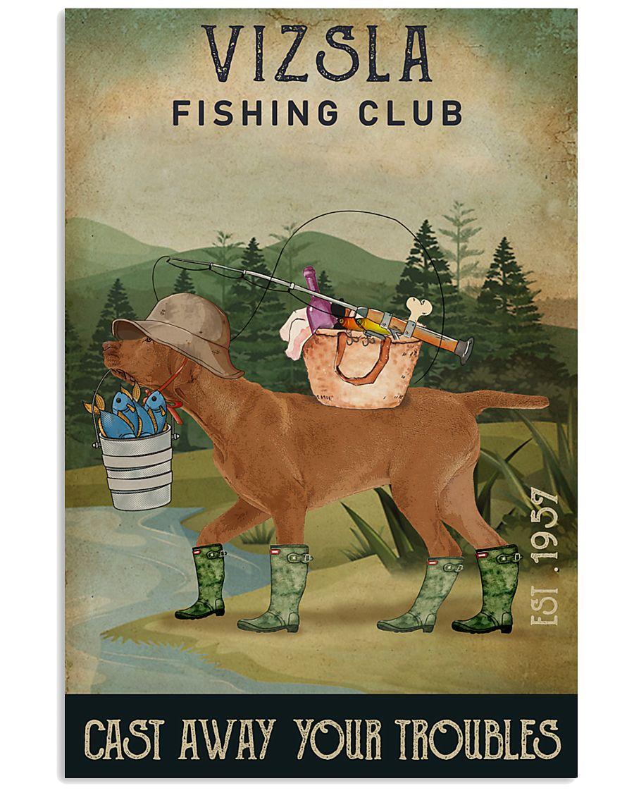 Fishing Cast Away Vizsla 11x17 Poster