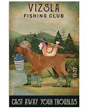 Fishing Cast Away Vizsla 11x17 Poster front