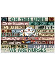 Nurse On This Unit We Do Team Work 24x16 Poster front
