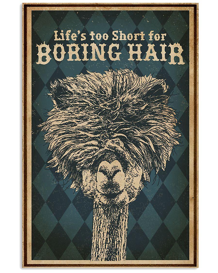 Life's Too Short For Boring Hair Alpaca 16x24 Poster
