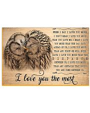 Owl I Love You To The Most 17x11 Poster front